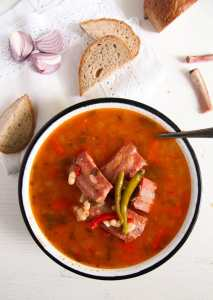 %name White Bean Soup with Smoked Spare Ribs and Tarragon