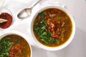 %name Spicy Yellow Split Lentils and Beef Soup with Vegetables