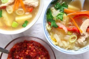 %name Healthy Potato and Turkey Soup with Napa Cabbage