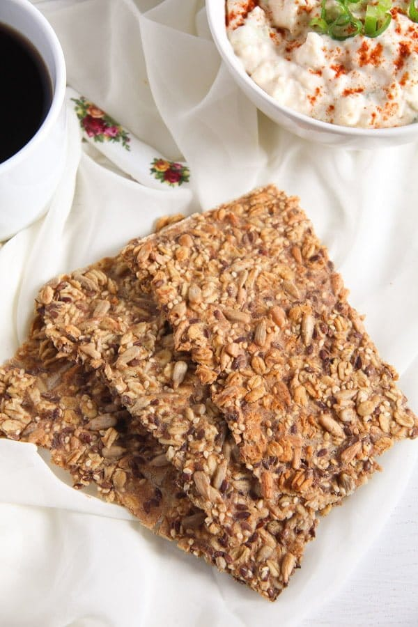 crisp bread 8 Easy Multi Seed Crispbread with Oats and Spelt Flour