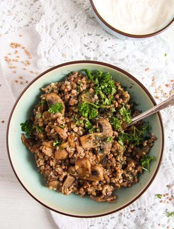 kasha 2 Roasted Buckwheat with Mushrooms and Onions – Polish Kasha