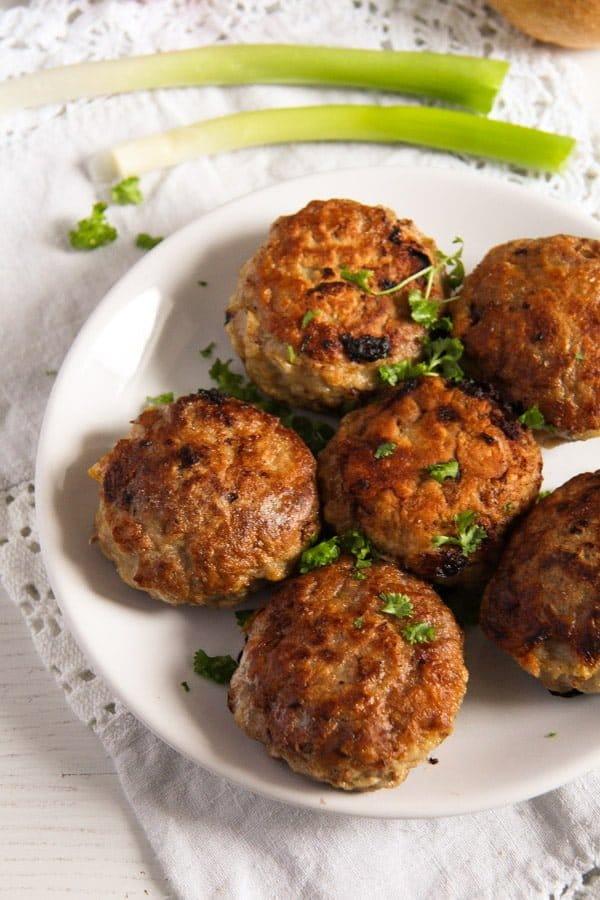 mushroom stuffed meatballs 1 Skillet Mushroom Stuffed Meatballs with Herbs – Polish Recipe