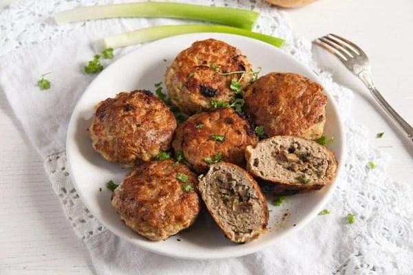 Skillet Mushroom Stuffed Meatballs with Herbs – Polish Recipe