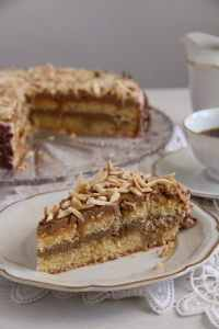 %name Almond Cake with Coffee Caramel Buttercream – Polish Tort Migdalowy