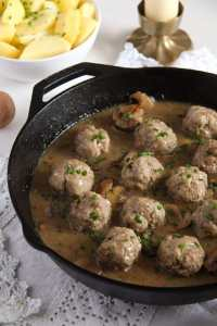 %name Polish Meatballs with Mushroom Sour Cream Gravy