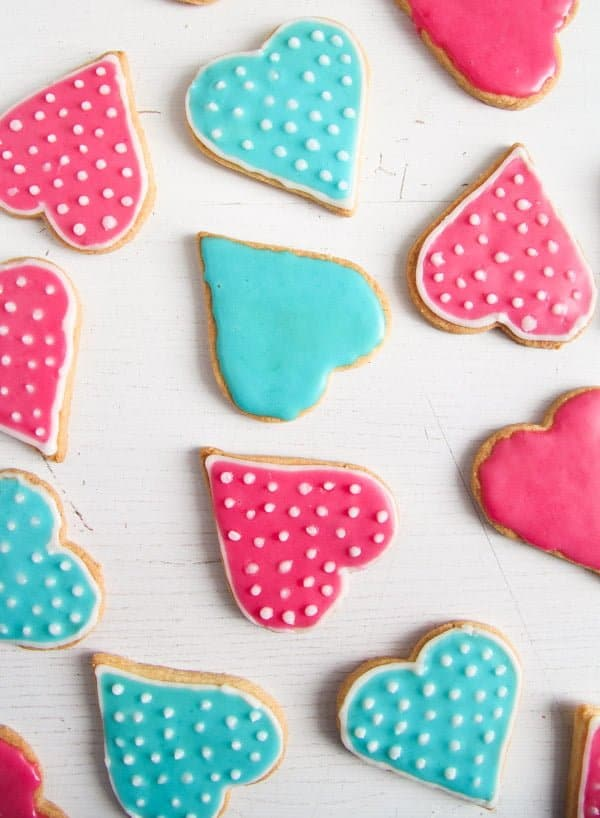 heart cookies 1 Easy Heart Shaped Butter Cookies with Flood Icing