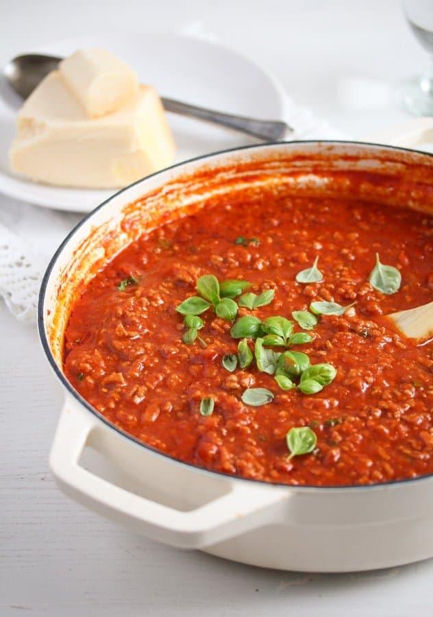 Italian meat sauce for pasta 7 Rosas Ultimate Homemade Meat Sauce for Pasta