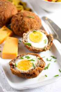 %name Classic Scotch Eggs Recipe – Fried, with Sausage and Herbs