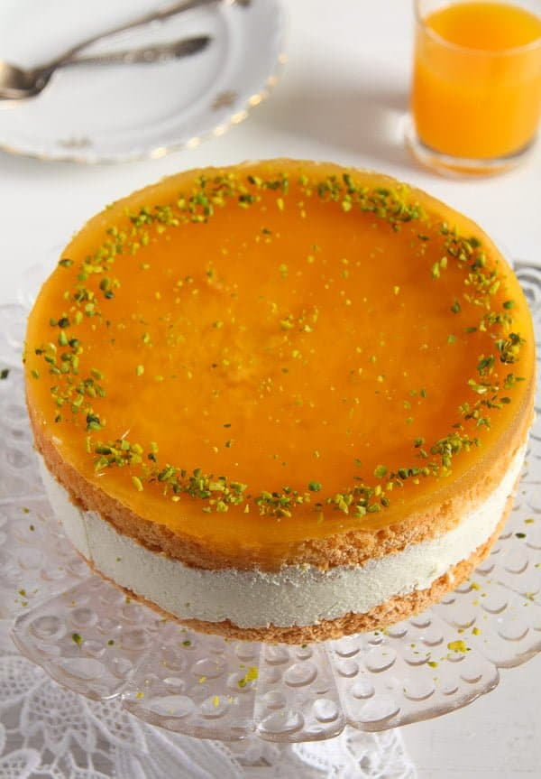 passion fruit cream cake 1 Passion Fruit or Maracuya Juice Cheesecake with Quark and Cream