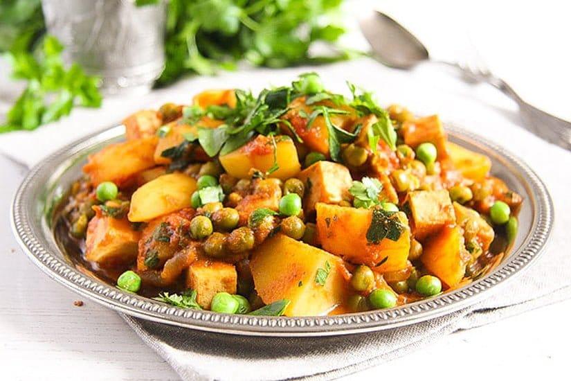 vegan curry recipe with peas