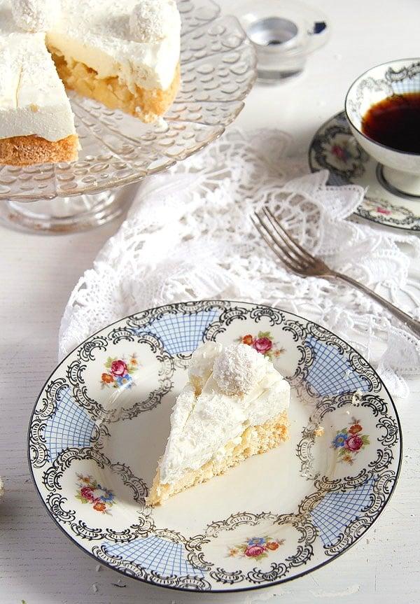 raffello coconut cake 3 Easy Pineapple Coconut Cream Cake with Raffaello