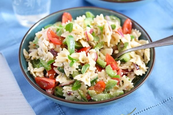 greek pasta salad 9 Greek Pasta Salad – with Green Bell Pepper and Feta