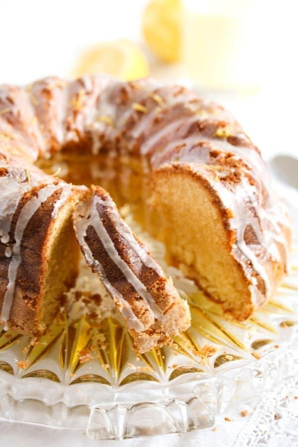 limoncello cake 5 Limoncello Cake with Lemon Glaze – Bundt Cake Recipe