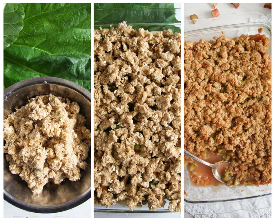 rhubarb crisp 11 Rhubarb Crisp with Apples and Crunchy Oatmeal Topping