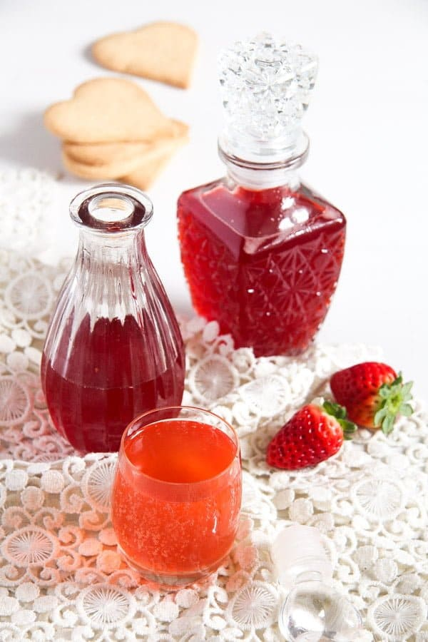 strawberry syrup 2 How to Make a Simple Strawberry Syrup   with Ginger