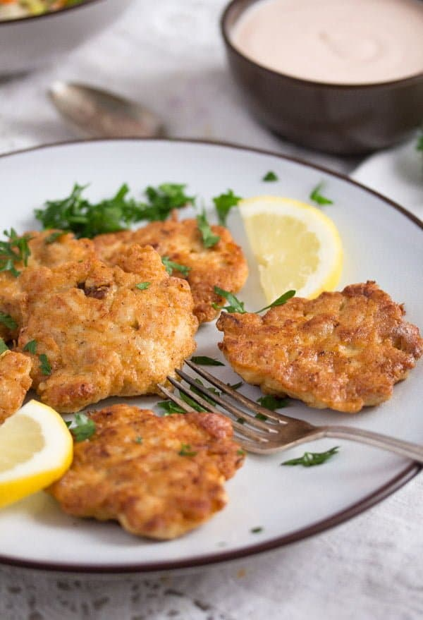 chicken fritters 3 Tender Chicken Breast Fritters or Patties– Russian Food