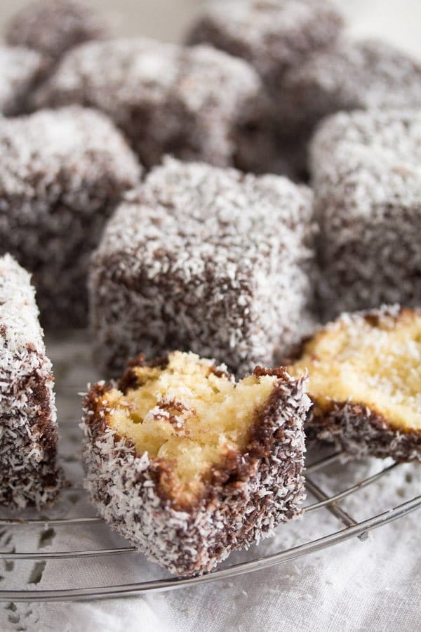 lamingtons 7 Lamington Cake – Australian Lamington Chocolate Cake Recipe