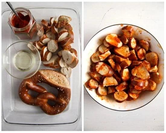 pretzel chips 1 How to Make Pretzel Chips Using Leftover Soft Pretzels