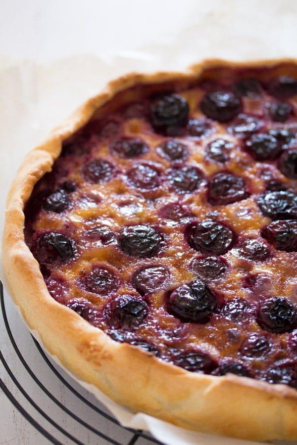 cherry tart 4 Swiss Fresh Cherry Tart or Flan – Kirschwähe – Swiss Food