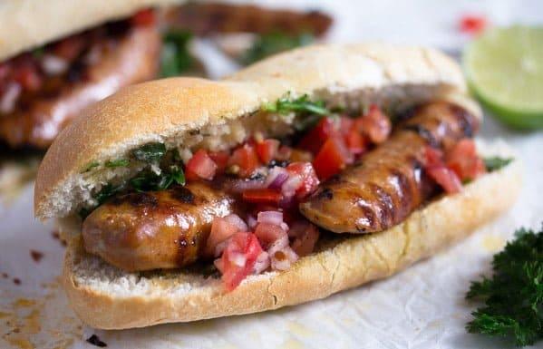 choripan sandwich with chimichurri