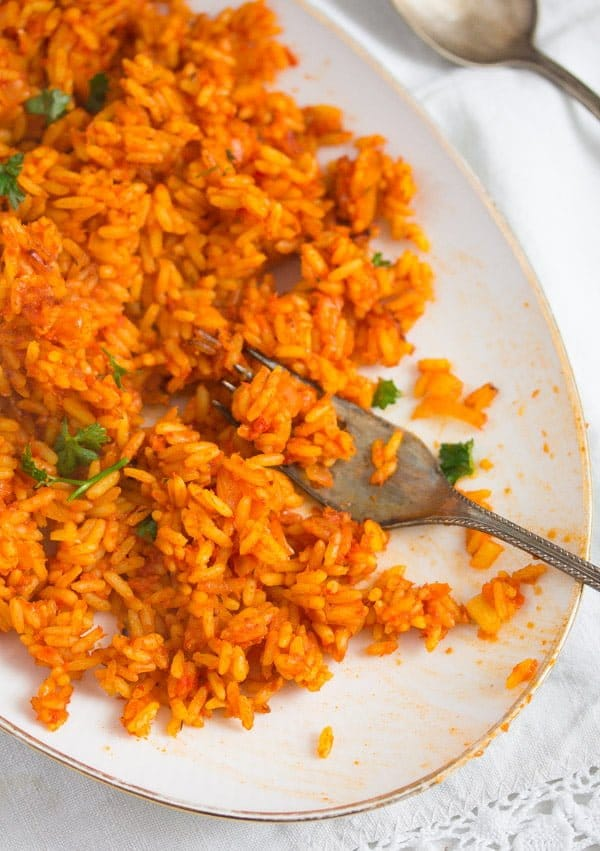jollof rice 4 Spicy Jollof Rice with Tomatoes – Nigerian Food