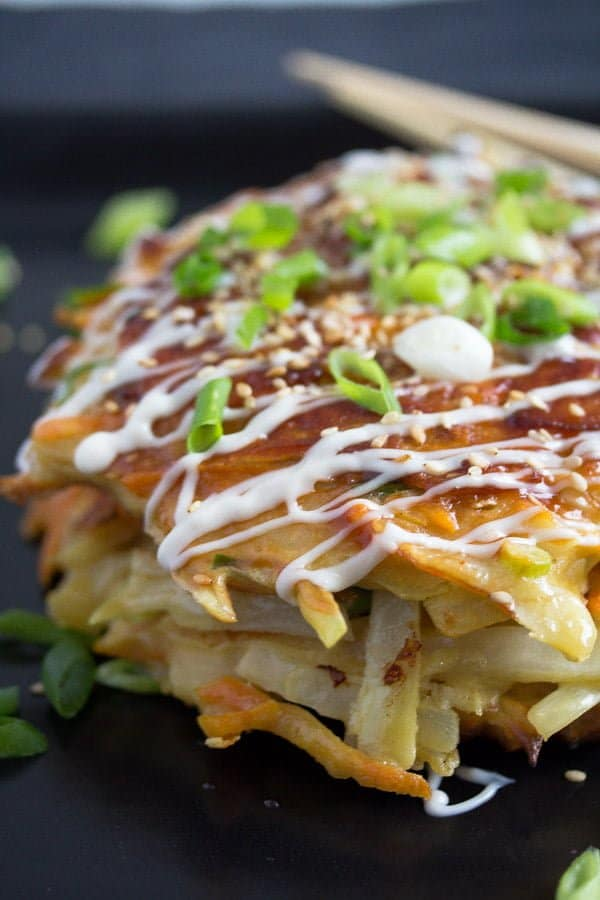 okonomiyaki 6 Okonomiyaki – Japanese Cabbage Pancakes – Japanese Food