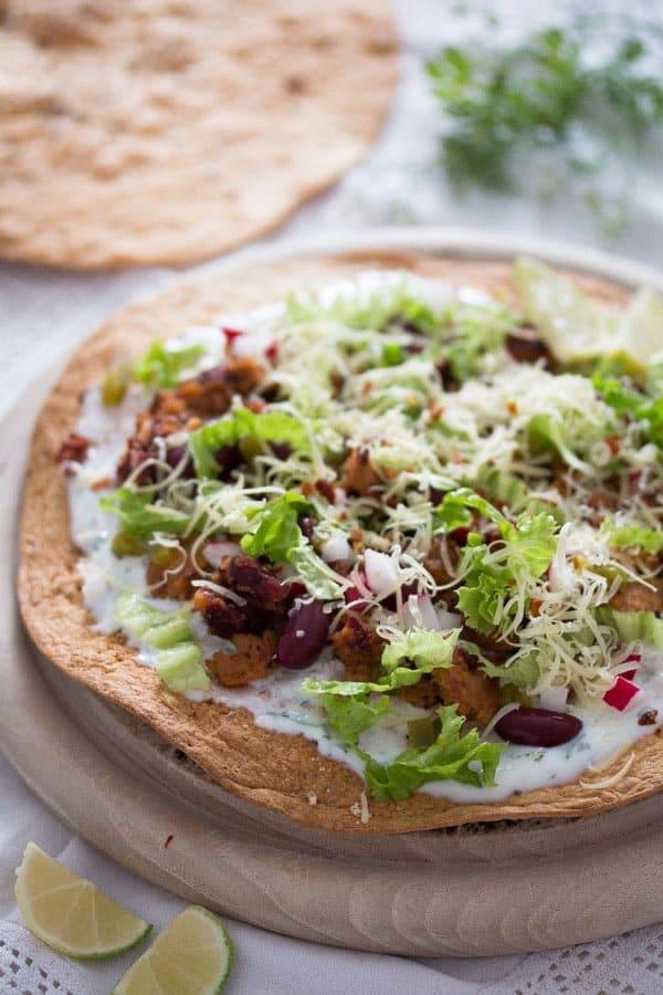 tostadas 9 Tostadas with Chorizo and Beans – Mexican Food
