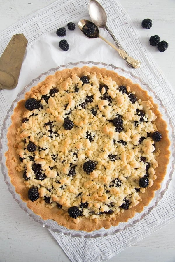 blackberry pie recipe 8 Easy Crumb Crust Pie with Blackberries and Crumble Topping