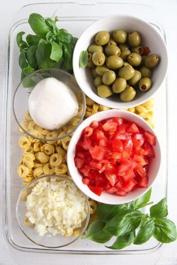 tortellini casserole 1 1 Easy Baked Tortellini with Tomatoes, Mozzarella and Basil