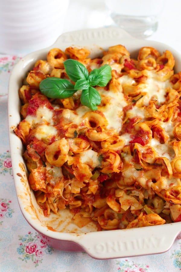 tortellini casserole 8 8 Easy Baked Tortellini with Tomatoes, Mozzarella and Basil