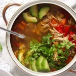 %name Mexican Chicken Soup with Avocado and Chickpeas