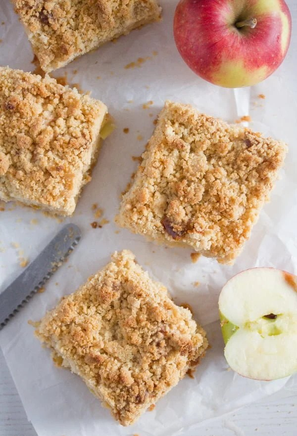 apple cake with streusel 6 Apple Crumble Cake with Sour Cream – German Apple Streusel Cake
