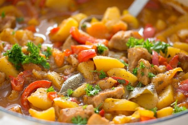 pork stew 8 Easy Pork Stew Recipe – Hungarian Goulash with Pork and Potatoes