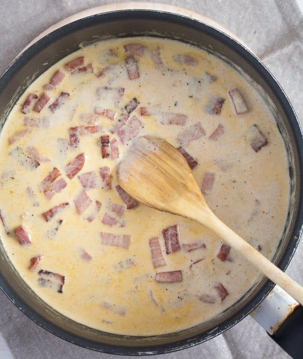 tortellini in cream sauce 3 Cheese Tortellini in Cream Sauce with Ham and Basil