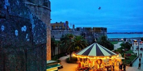Saint Malo France city walls Brittany