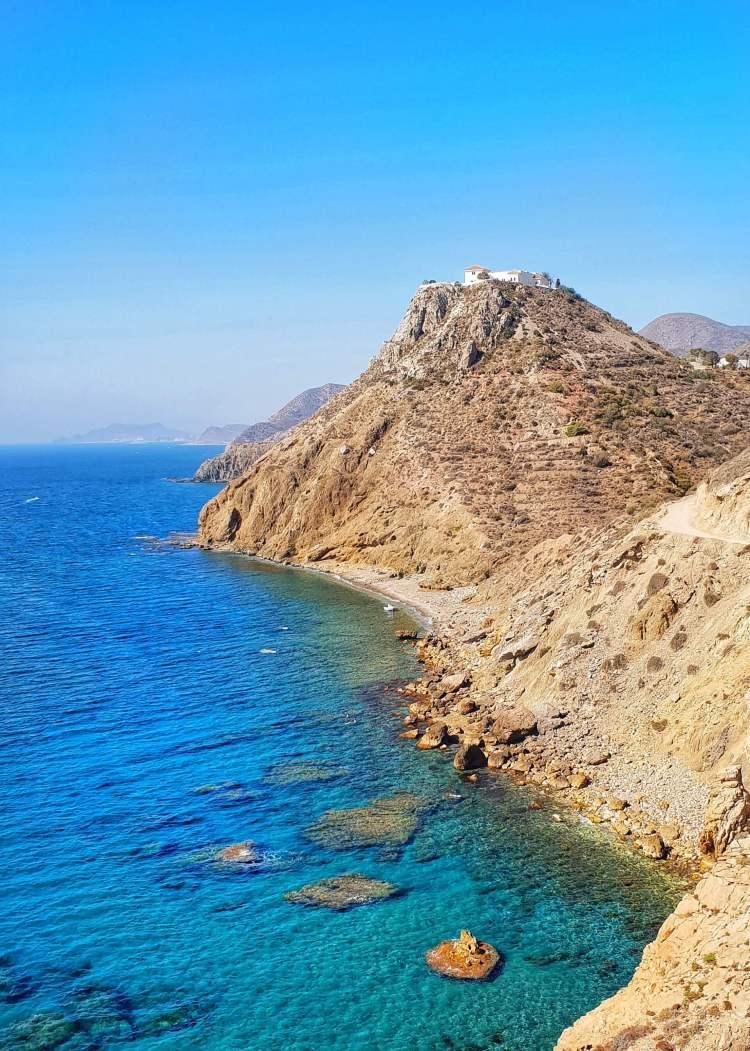 Mojacar coastline about Mojacar Spain