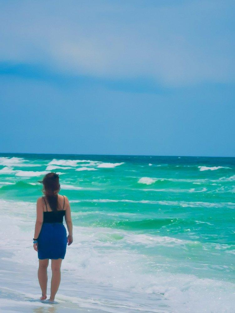 Shell Island Panama City Beach Florida waves