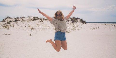 Shell Island Panama City Beach jump sand me