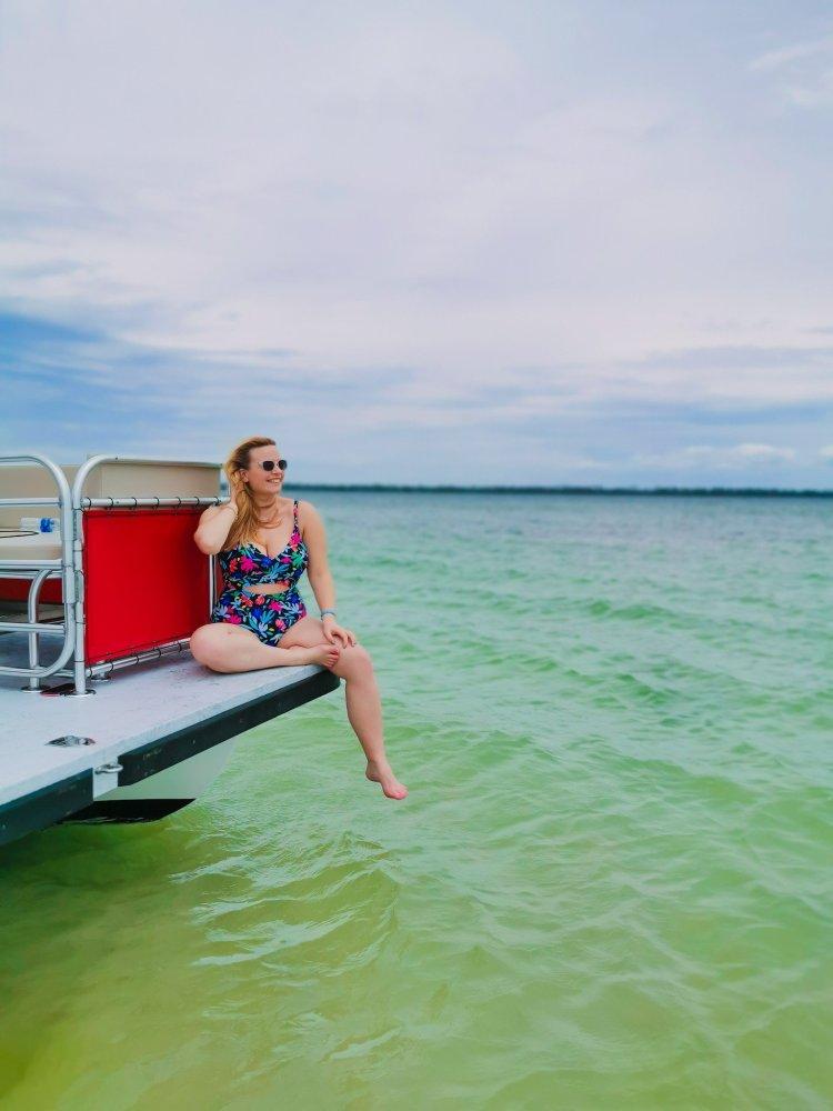 pontoon boat to Shell Island Panama City Beach