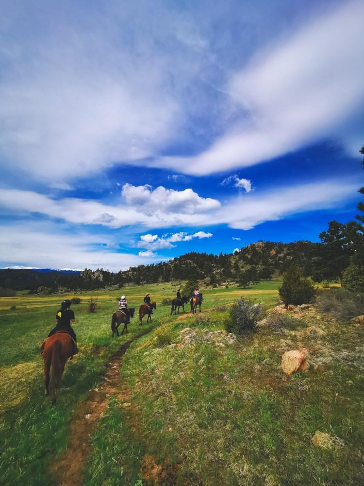 horse riding at Sundance Trail guest ranch colorado