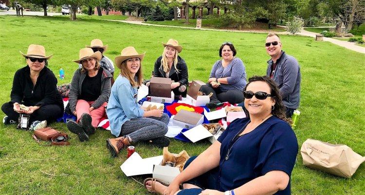picnic in Loveland sculpture park Colorado