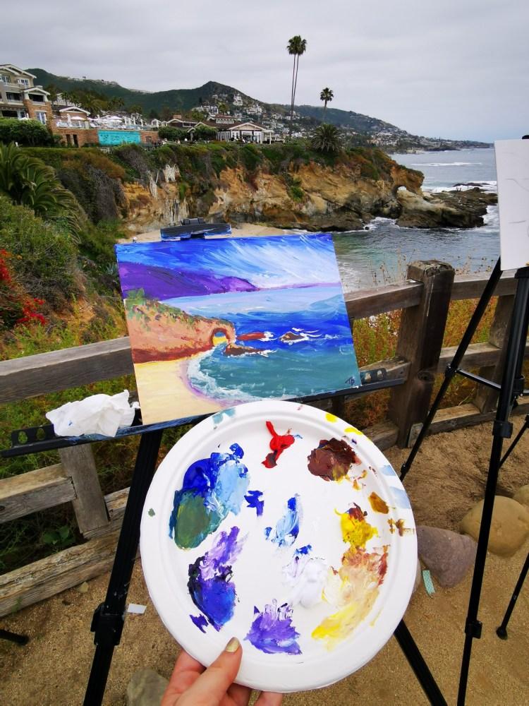 5 days in LA Los Angeles itinerary Laguna Beach art class