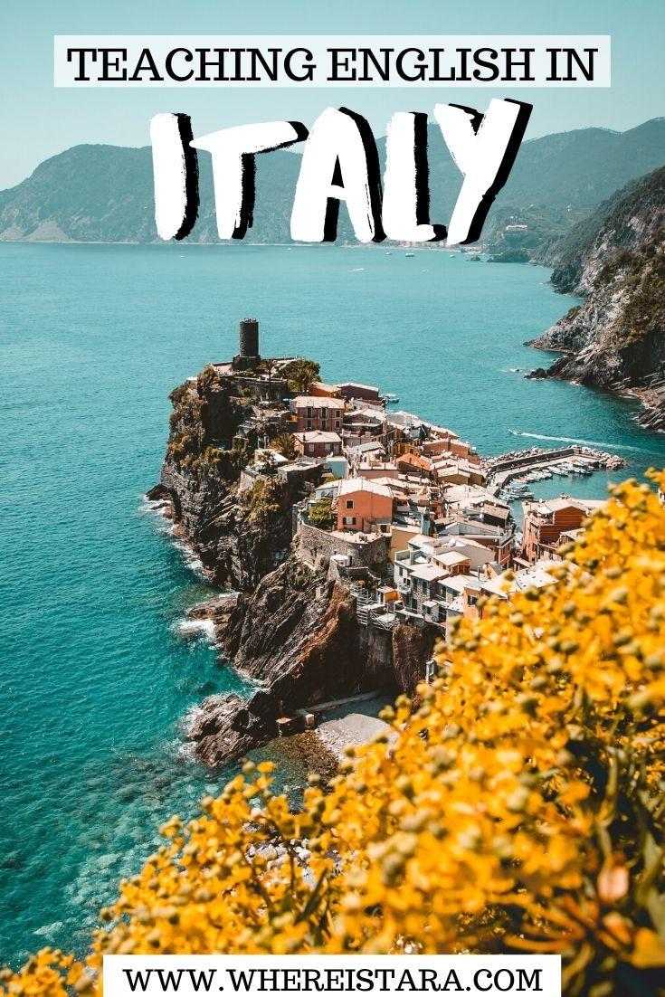 teaching english in Italy pin 1