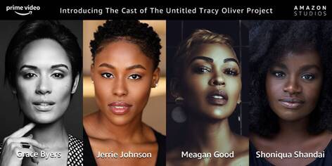 Meagan Good, Grace Byers, Jerrie Johnson and Shoniqua Shandai,  The Cast of Amazon Studios HARLEM Highlight Black Girl Magic
