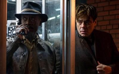 First Look of the 'NO SUDDEN MOVE' Official Trailer starring Don Cheadle, Benicio Del Toro, David Harbour, Brendan Fraser, and Julia Fox