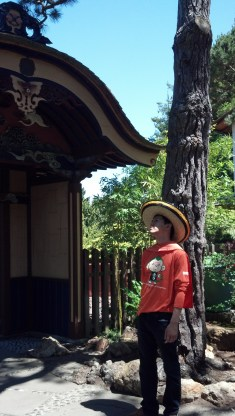 My friend Robin at the Japanese Gardens
