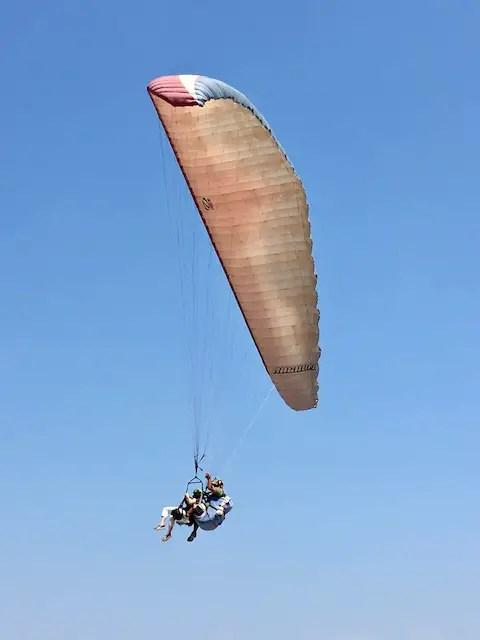 paragliding in Crucita, Ecuador