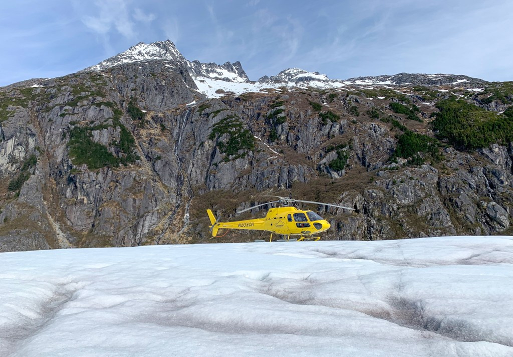 helicopter ride to Herbert Glacier in Juneau, Alaska