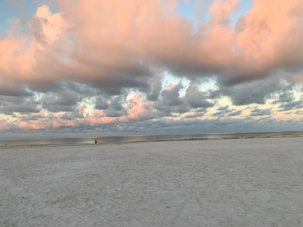 sunrise at the Neptune Inn in Fort Myers Beach, Florida