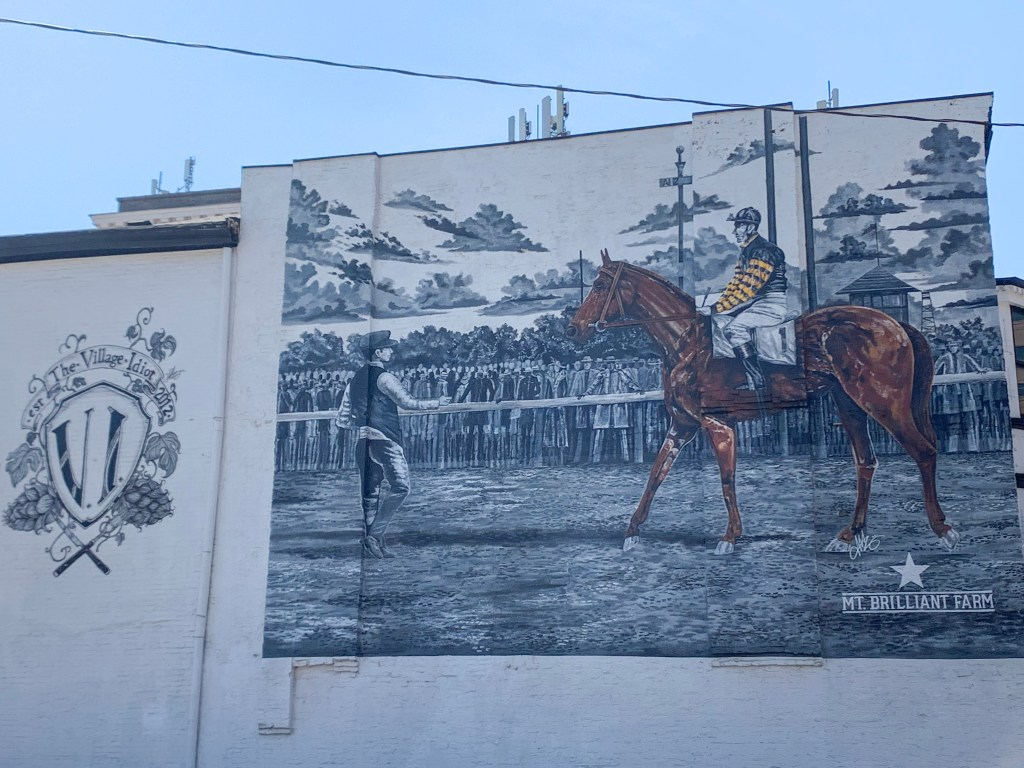 Man O'War street mural in Lexington, Kentucky